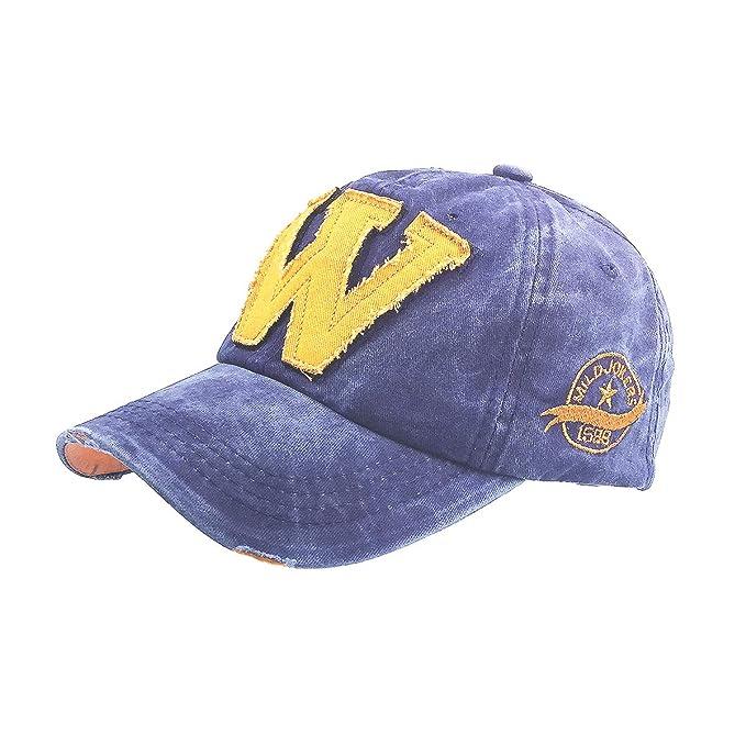768ce07e280 Baseball Cap Men Women Adjustable Dad Hat Cotton Washed Outdoor Letter W Sports  Sun Hats Cowboy