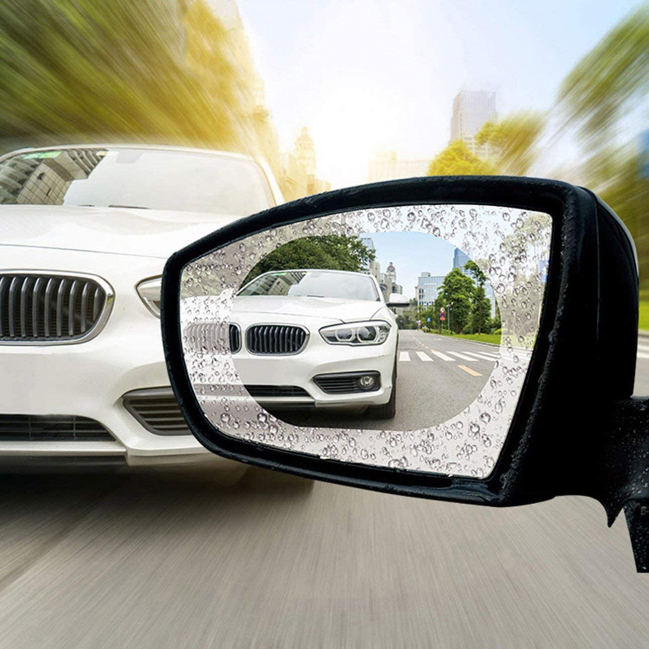 Liobaba Car Rearview Mirror Protective Film Anti Fog Window Clear Rainproof Rear View Mirror Protective Soft Film Auto Accessories