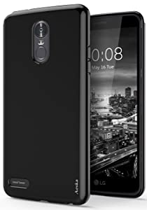 LG Stylo 3 Case, LG Stylo 3 Plus Case, Aeska Ultra [Slim Thin] Flexible TPU Soft Skin Silicone Protective Case Cover for LG Stylo 3 / LG Stylo 3 Plus (Black)