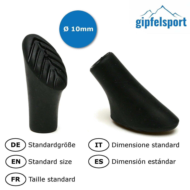 gipfelsport Nordic Walking Gummipuffer 8 Paare Asphalt 16 St/ück