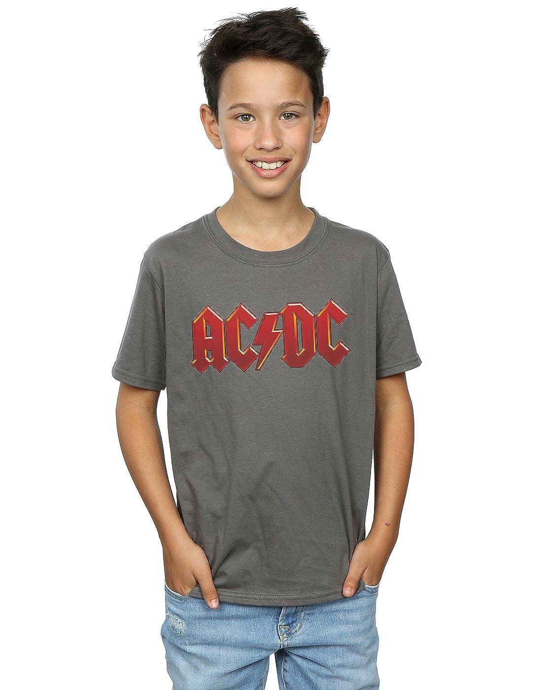 ed703f3e7 Desconocido AC DC Niños Dark Red Logo Camiseta  Amazon.es  Ropa y accesorios