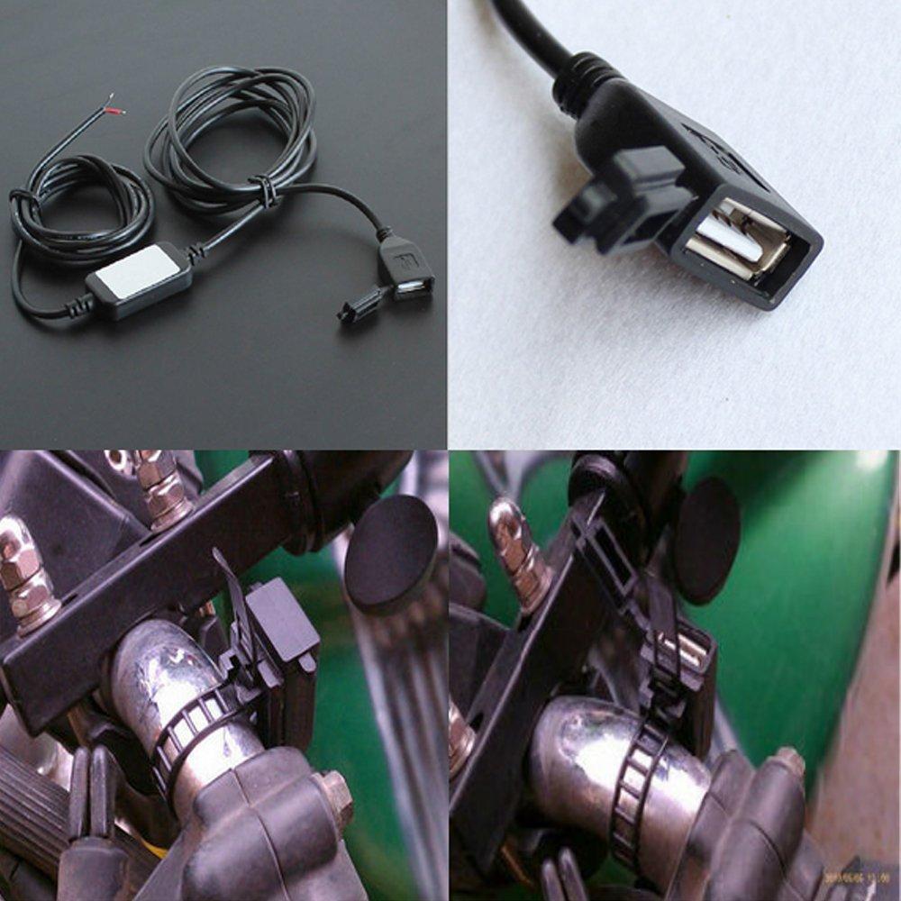 Mintice/™ 12v 24V moto impermeabile doppia porta USB presa di ricarica presa 1a 2.1a