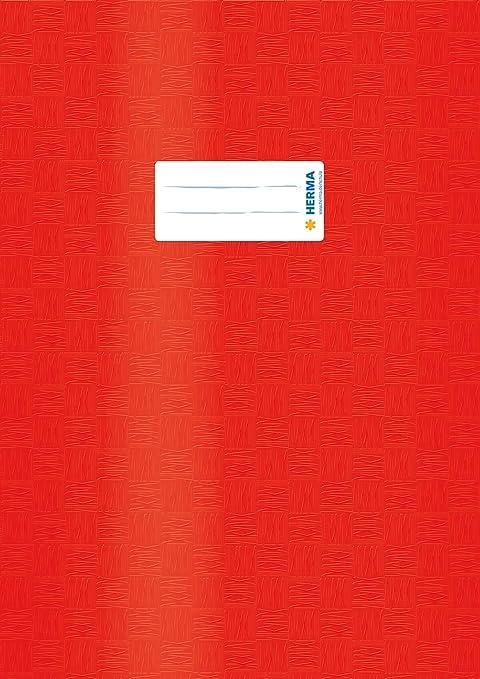 10 x Herma Heftschoner Heftumschlag Hefthülle A5 quer rot