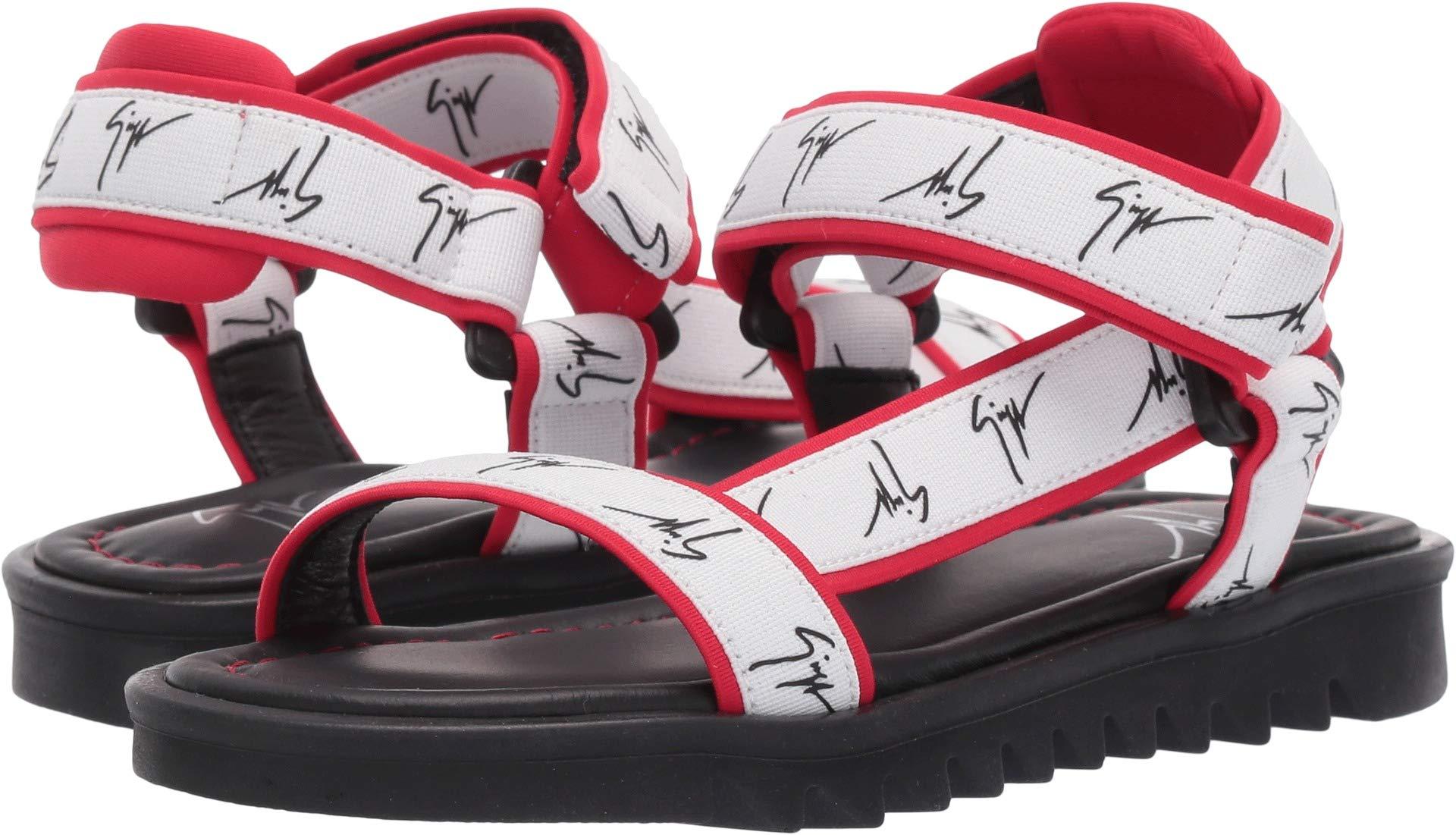 Giuseppe Zanotti Kids Unisex Bond Gomma Sandals (Toddler/Little Kid) Black/Red 27 M EU