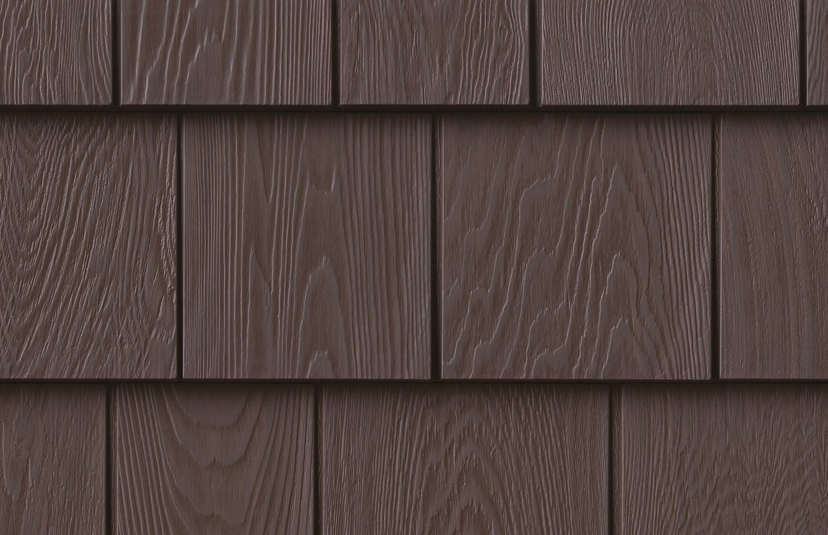 Grayne 7.5'' Red Cedar Shingle 454 Vintage Brown Rigid PVC Shingle Panel