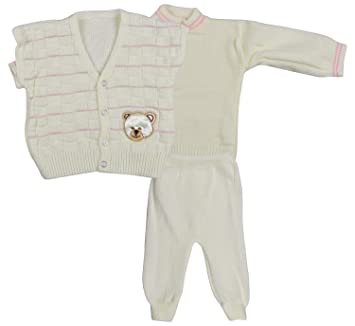 43ca39bd1718 Little Bunnies Baby Boy s and Baby Girl s Woolen Sweater Legging and ...