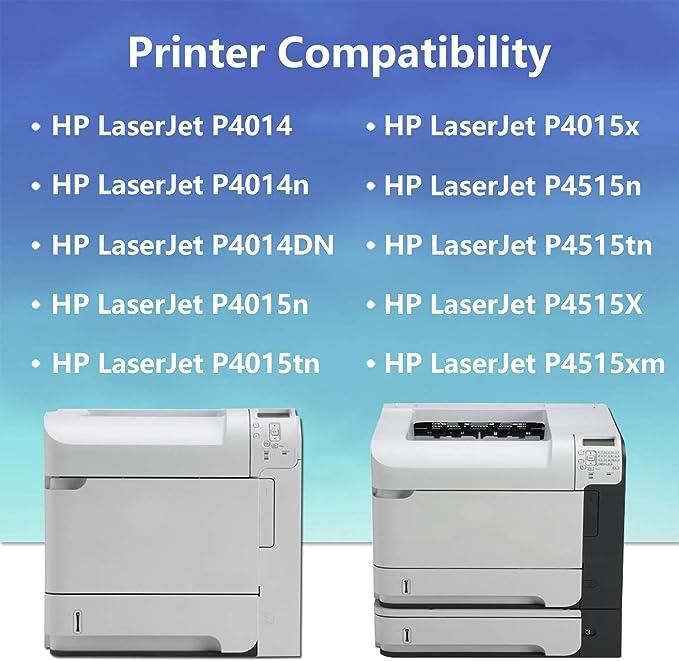 10x Eurotone Refill Toner Chip for HP Laserjet P 4017 Fills CC364A 64A