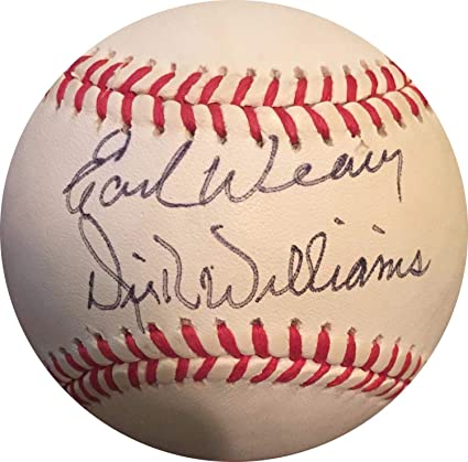 e094fcf92b5 Image Unavailable. Image not available for. Color  Earl Weaver Dick  Williams Autographed Signed Official NL Baseball ...