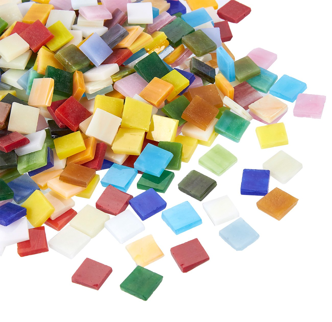 700-Pack Glass Mosaic Pieces for Home Decoration Craft Supplies Multicolored DIY Art Projects Diamond Shaped 0.78 x 0.47 x 0.1 Inches Juvale Mosaic Tiles