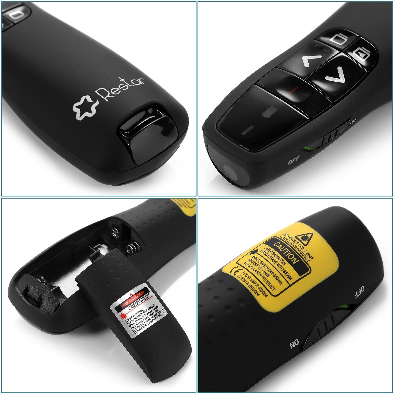 Restar LP0007 RF 2.4GHz Wireless USB PowerPoint PPT Presenter Remote Control Laser Flip Pen [LIFETIME WARRANTY] by Restar Laser Pointer (Image #2)