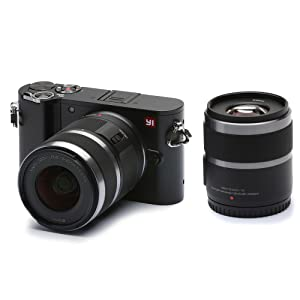 YI M1 4K 20 MP Mirrorless Digital Camera with Interchangeable Lens 12-40mm F3.5-5.6 Lens / 42.5mm F1.8 Storm Black(US Edition)