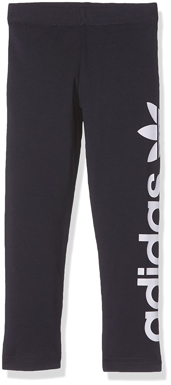 adidas Girls' J Leggins Tights Blue/Tinley/Blanco Size 116 BR8101