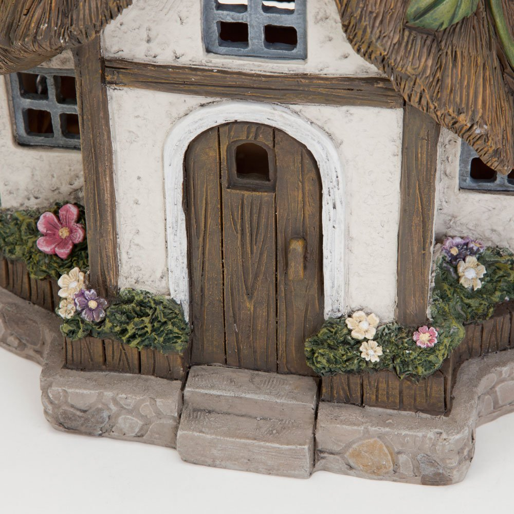 Unique Outdoor Lawn and Garden D/écor Solar Fairy Cottage Make Your Magical Fairy Garden House Come To Life In Your Garden Bits and Pieces