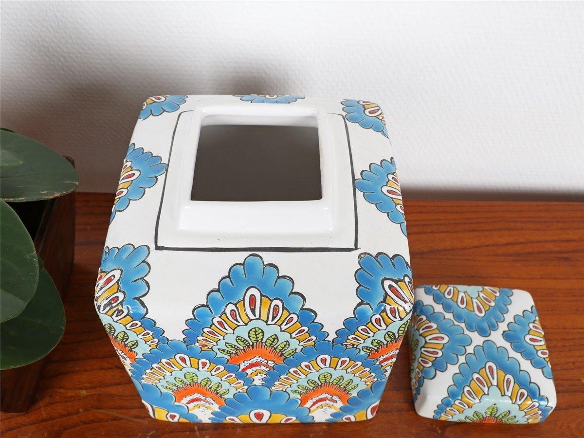 Antiquitäten & Kunst Vase Porzellan Deckelvase Ingwergefäß Ginger Jar China 21cm P0138