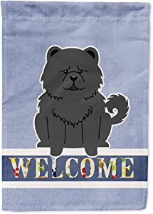 Caroline's Treasures BB5724GF Chow Chow Black Welcome Flag Garden Size, Small, Multicolor