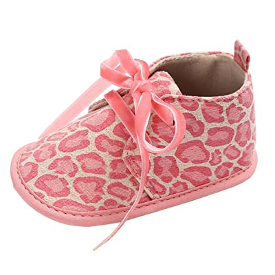 La Vogue Baby Boys Girls Lace Up Rubber Sole Crib Toddler Boots Shoes