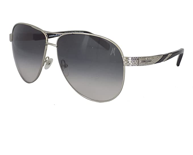 40ff6bbbcdd0 Image Unavailable. Image not available for. Colour  Lacoste Metal Silver  Toned Frame Grey Lens Women s Sunglasses ...