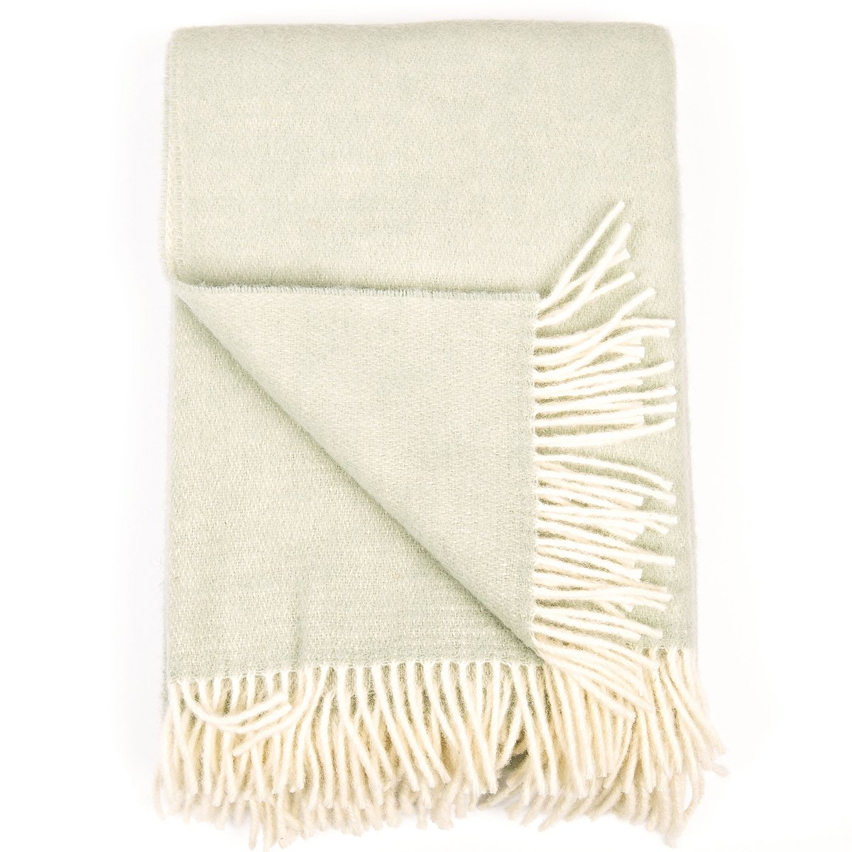 LinenMe Wool Throw Roberto, Spa Green