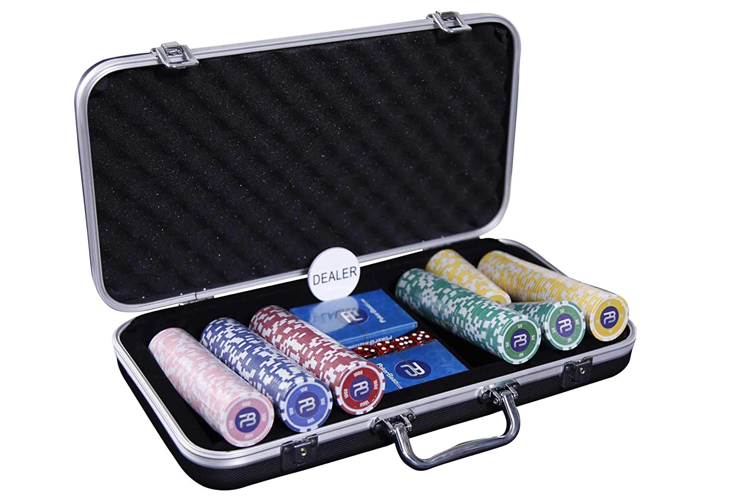 Buy Pokerbaazi Chip Set 300 Pc Set With Two Playing Cards And One Dealer Button Online At Low Prices In India Amazon In