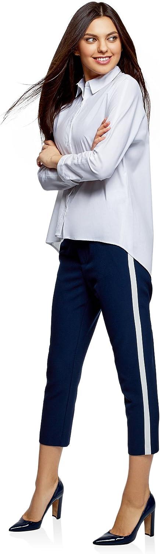 oodji Ultra Donna Pantaloni con Elastico in Vita e Strisce Laterali