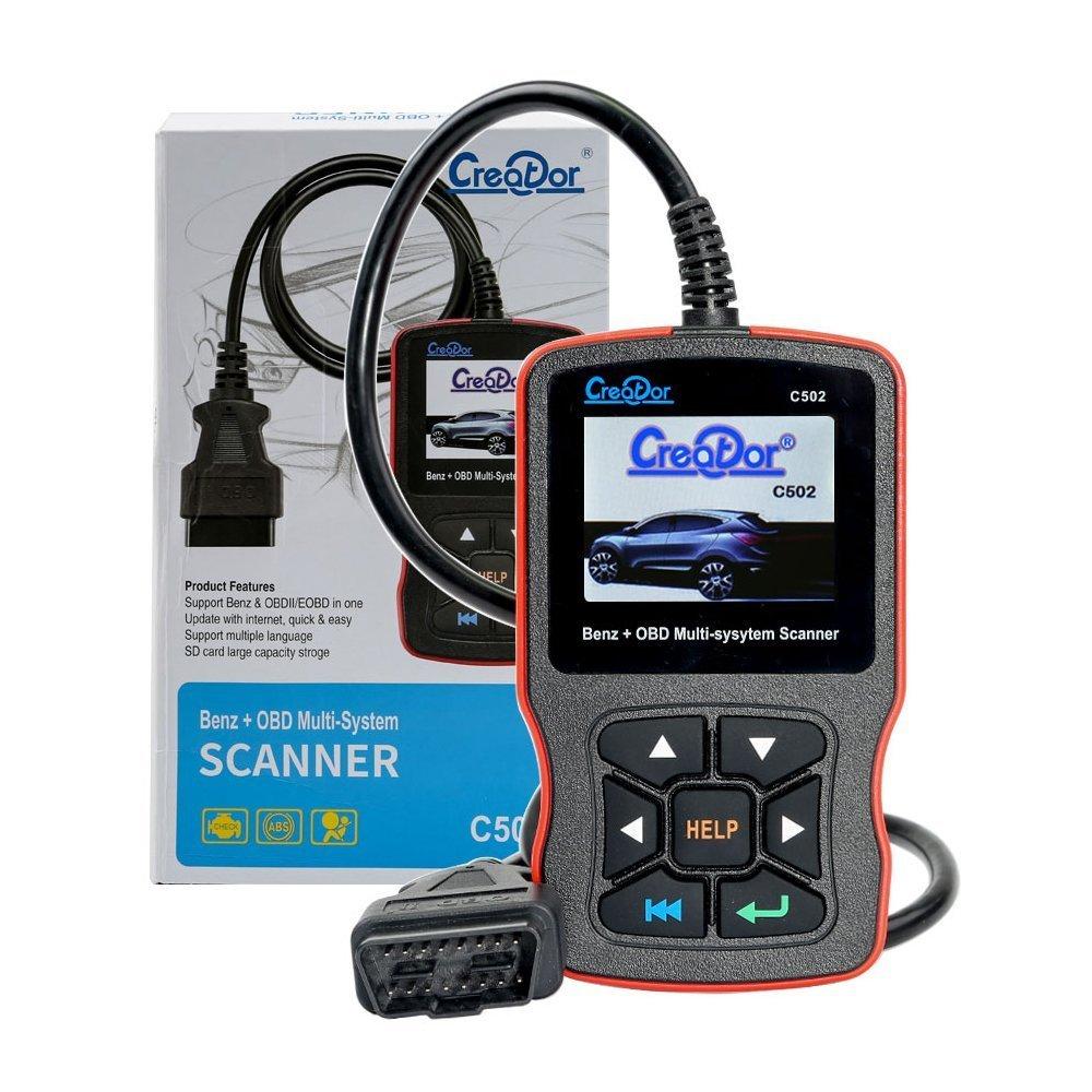 Creator C502 Code Reader Full System Scanner for Mercedes-Benz with OBDII EOBD CAN Engine Fault Scanner