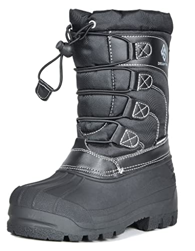 83faa512c168 Dream Pairs Toddler Knorth Black Isulated Fur Winter Waterproof Snow Boots  Size 8 UK Child