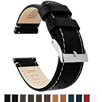 BARTON Quick Release - Top Grain Leather Watch Straps - Choice of Colour & Width - 18mm, 20mm or 22mm Bands