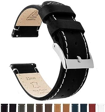 48843103b85 BARTON Quick Release Top Grain Leather Watch Straps - Choose Colour   Width  (18mm