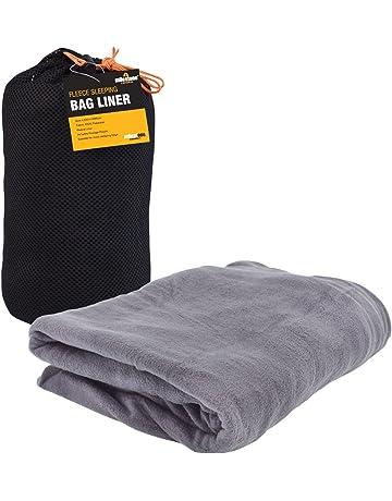 Sábana para saco de dormir tipo forro polar Milestone Camping - Negro