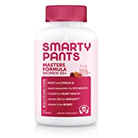 SmartyPants Women's Masters 50+ Multivitamin: Vitamin C, D3 & Zinc for Immunity, Lutein/Zeaxanthin for Eye Health*, CoQ10 for Heart Health, Omega 3 Fish Oil (EPA & DHA), B6, 120 Count (30 Day Supply)