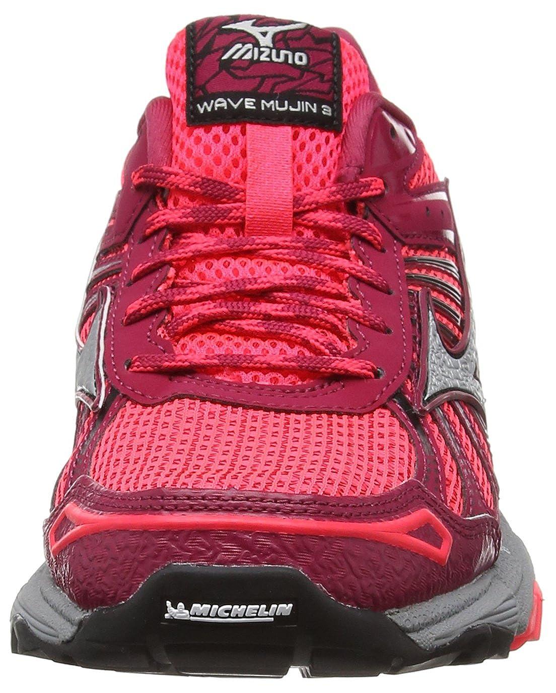 Mizuno Damen Wave Mujin 3 (W) rot Laufschuhe, rot (W) Pink (Diva Pink/Silver/Persian ROT) fc3e98