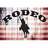 Cowboy Rodeo Background 8x6.5ft Polyester Photo Backdrop Photography Background Wild West Western Land Extremes Cowboy Hat Tools Illustration Picture Wall Cartoon Design Children Kids Photo Prop