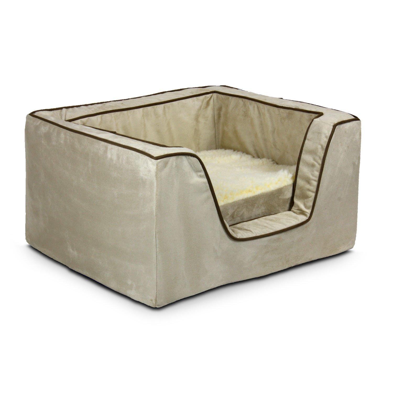 Large Snoozer 22375 Large Memory Foam Luxury Square Pet Bed, Buckskin Java