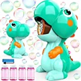 EduCuties Bubble Machine for Kids, Dinosaur Toys Automatic Bubble Blower Maker with Solutions for Toddlers Ages 4-8 Outdoor T