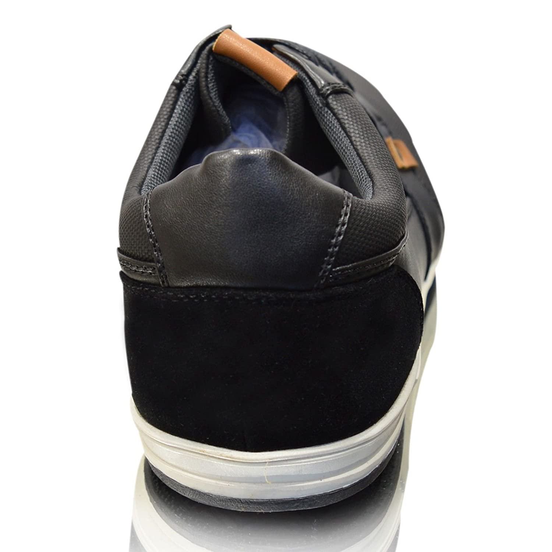Herren Neue Leder Leder Leder Gefüttert Lässig Elegant Schnürschuhe UK Größe 6-11 Schwarz 35c457