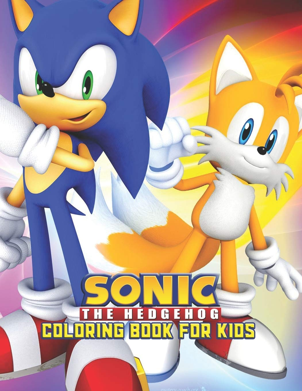 Amazon.com Sonic The Hedgehog Coloring Book For Kids Sonic The ...