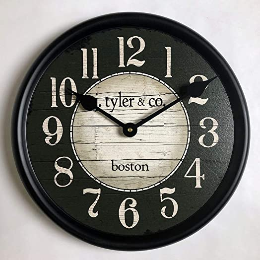 Boston Harbor Green Wall Clock, Available in 8 Sizes, Most Sizes Ship 2-3 Days, Whisper Quiet.