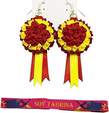 PACK SOY TAURINA PENDIENTES Y PULSERA ESPAÑA: Amazon.es: Joyería