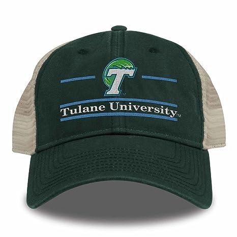 c95e243081e Amazon.com   NCAA Tulane Green Wave Split Bar Design Trucker Mesh ...