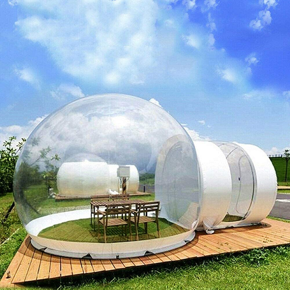 Inflatable Bubble House Fan (3M) 110V Plug, Eco Home Bubble Tent House Igloo Camping Cabin Air Blower Inflatable Luxury Outdoors Camping+Air Outdoor Friendly Tunnel Dome Stargazing Transparent