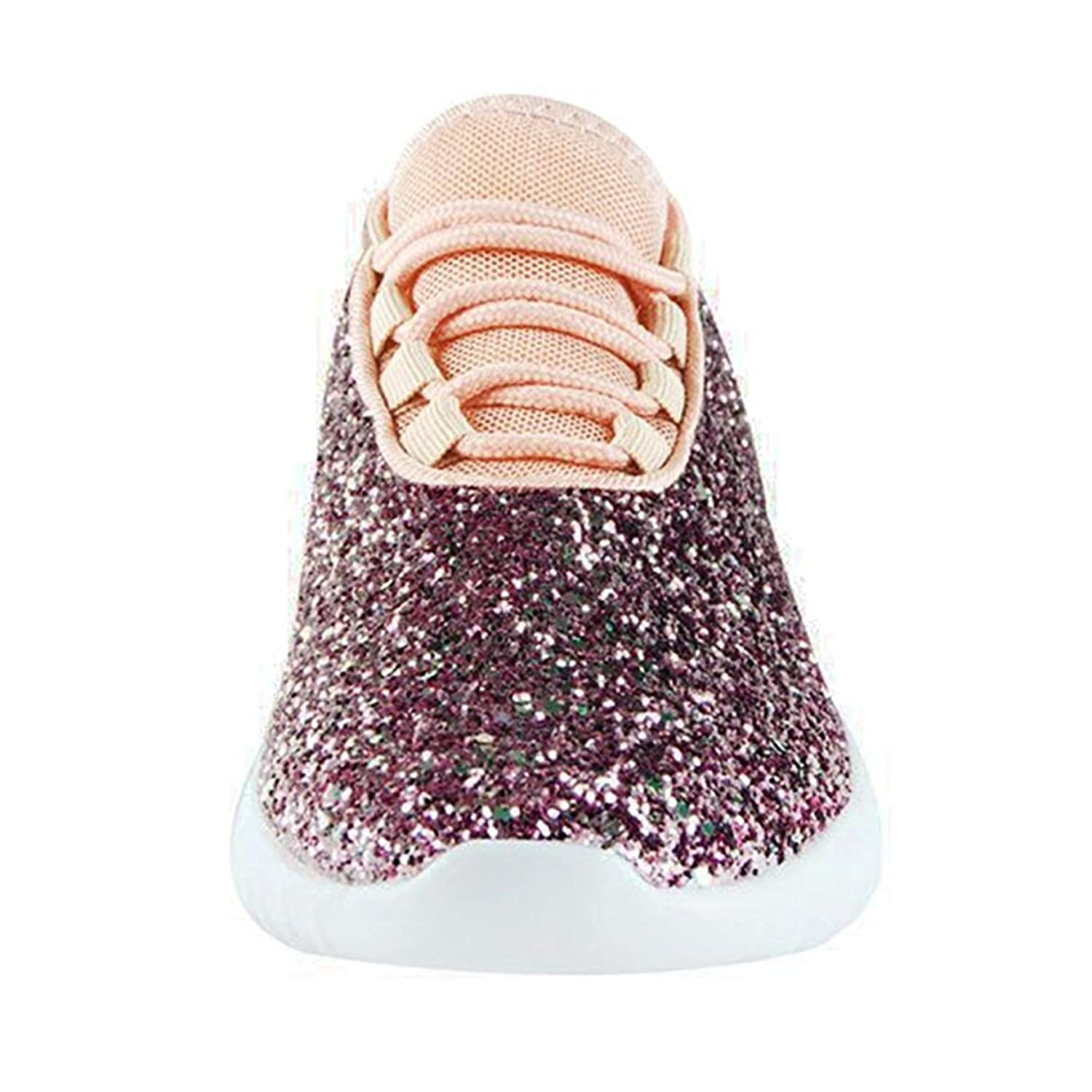 6a8ddeb9b68a ... SF Forever Link Remy-18 Women s Women s Women s Jogger Sneaker-Lightweight  Glitter Quilted Lace ...