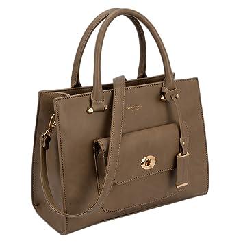 14b1f09f David Jones - Women's Small Size Satchel Handbag Fashion Lady Crossbody  Shoulder Bag Front Pocket Padlock