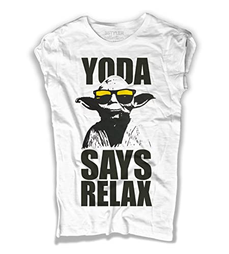 T-shirt Donna Yoda Says relax - frankie goes to hollywood - 3stylercollection