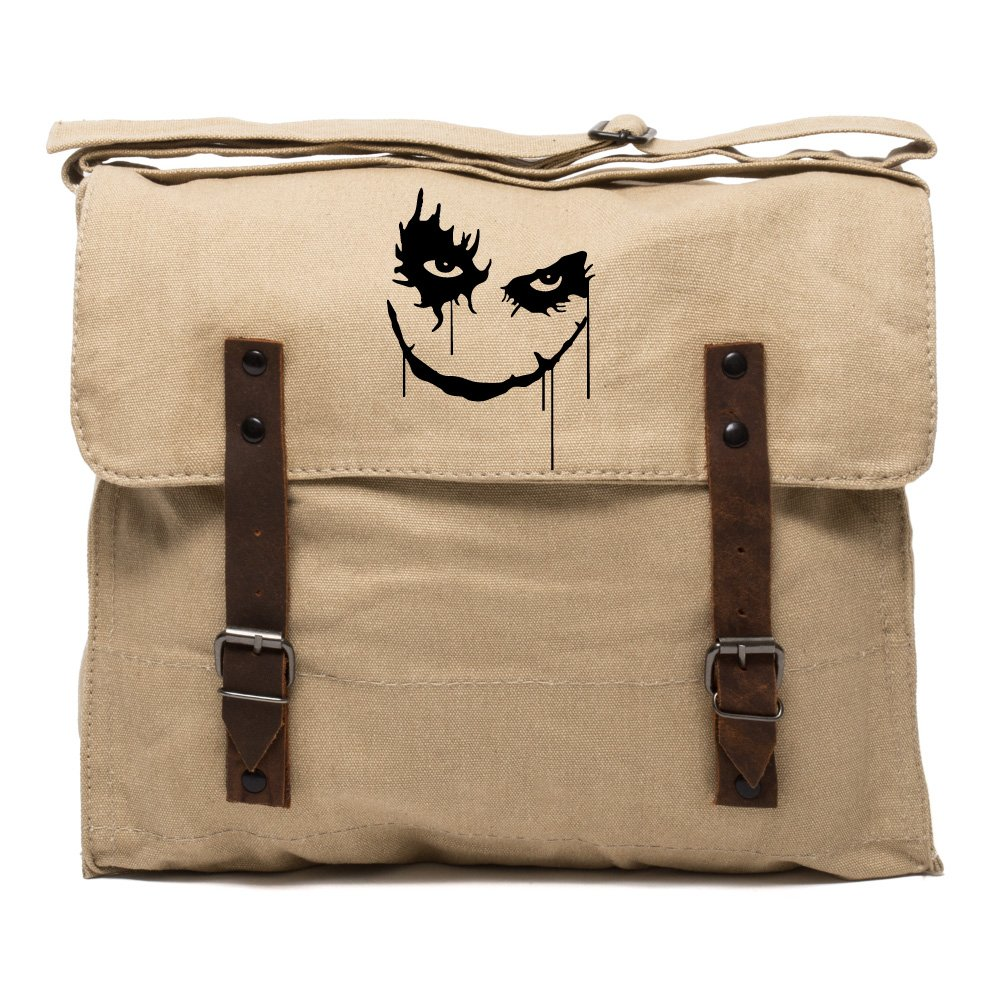 The Joker Face Army Heavyweight Canvas Medic Shoulder Bag in Olive