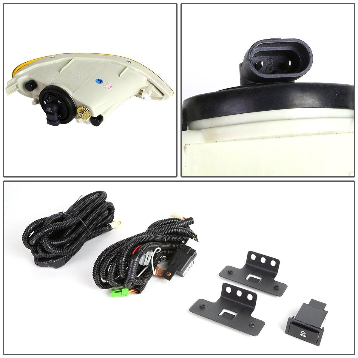 DNA MOTORING FL-ZTL-139-AM Fog Light w//Switch for 02-08 Camry//Solara//Corolla
