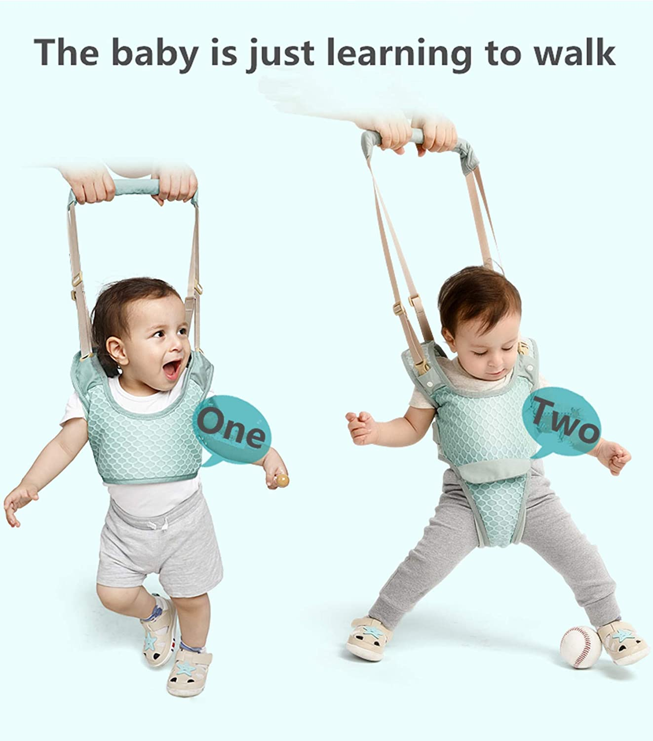 Handheld Stand Up and Walking Learning Belt Kids Safety Breathable Walking Harness for Baby 6-36 Months PULUSI Baby Walker Toddler Walking Assistant Cpink