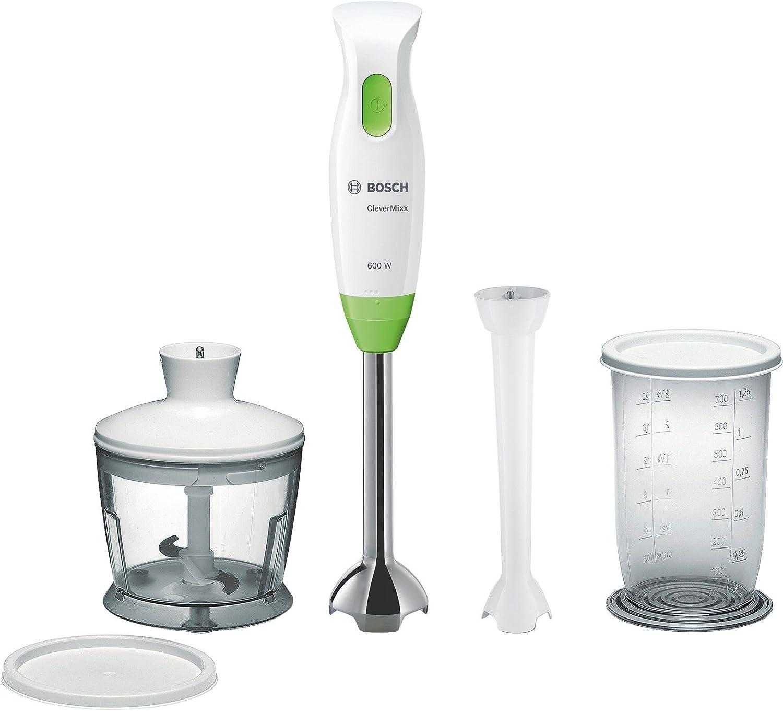 Bosch MSM2623G - Batidora (Batidora de mano, Blanco, Botones, Verde, De plástico, Metal)