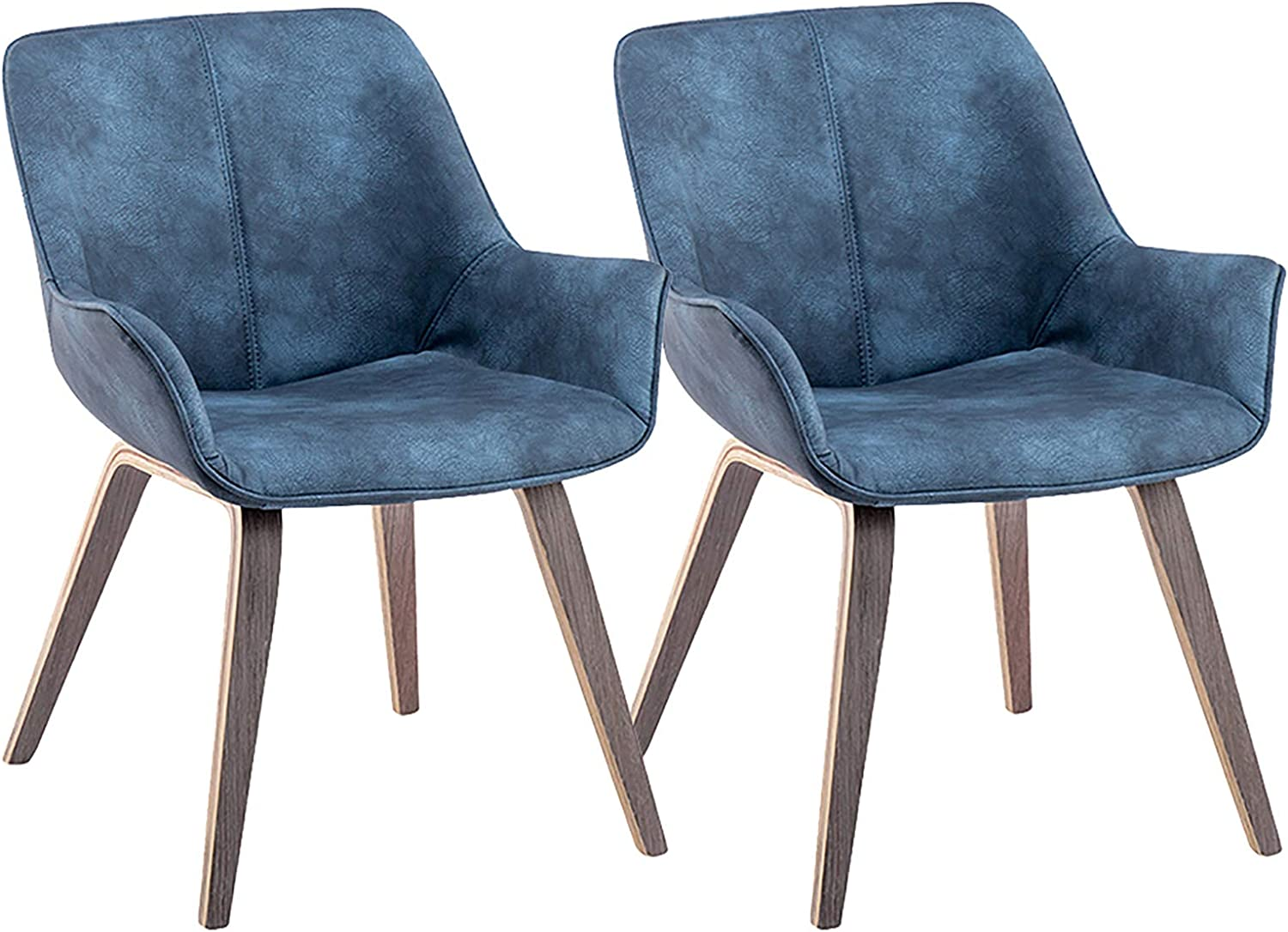 Amazon Com Yeefy Modern Living Room Chairs With Arms Blue Accent Chairs Set Of 2 Blue Chairs