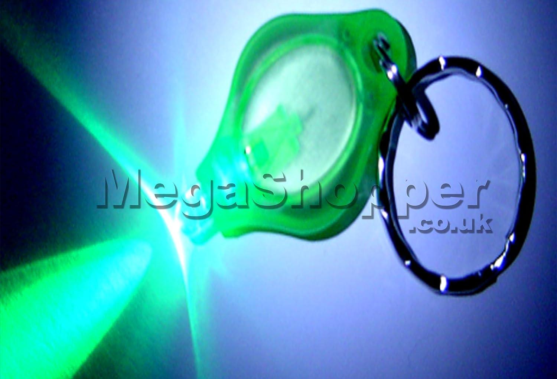 color verde glfalghero Unidades 5 x Mini LED luz verde brillante linterna Llavero