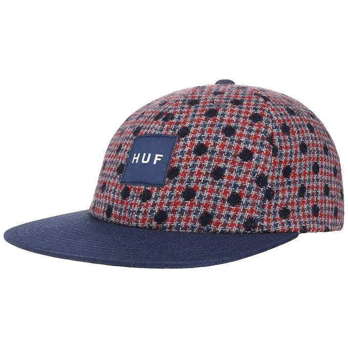 HUF Gorra Wool Box Logo Strapback de Beisbol (Talla única - Azul ...